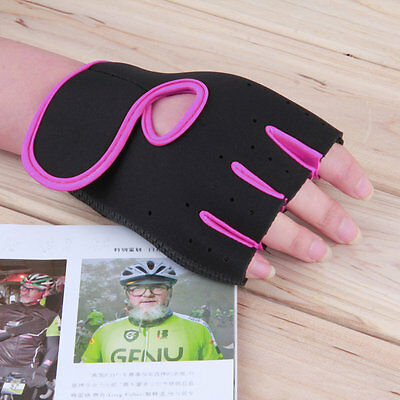 Sport Fitness Cycling Gym Half Finger Weightlifting Gloves Exercise Training LC