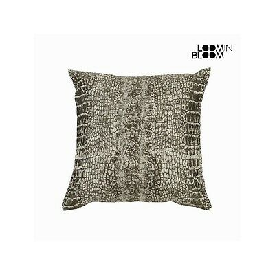 Coussin motif serpent beige - Collection Jungle by Loomin Bloom