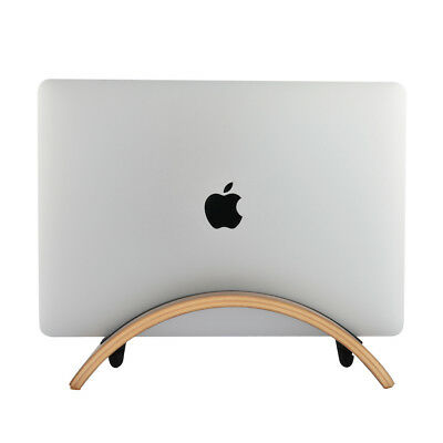 SAMDI  Wood Arc Shape Stand PAD Holder Mount For MacBook Air Laptop