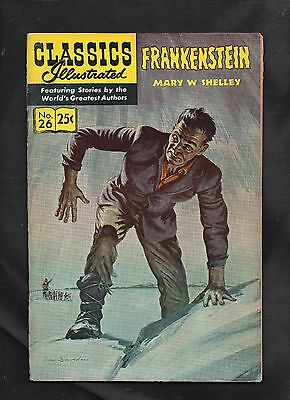Classics Illustrated #26 Vg   Hrn169 (Frankenstein) Mary Shelley