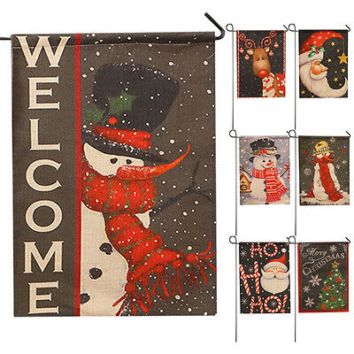 2017 New Year Christmas Party Garden Flag Indoor Outdoor Home Decoration Flag BD