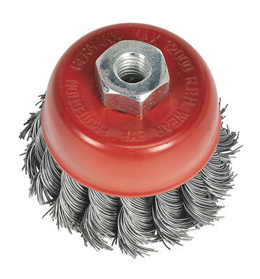 Sealey TKCB652 Twist Knot Wire Cup Brush �65mm M10 x 1.25mm