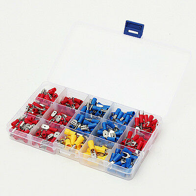 280Pcs Assorted Electrical Spade Crimp Terminal Wire Connector Box Kit Set