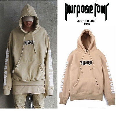 Hot 2016 Rare SOLD OUT Hoodie WESTERN STYLE FOR JUSTIN BIEBER PURPOSE TOUR Sand