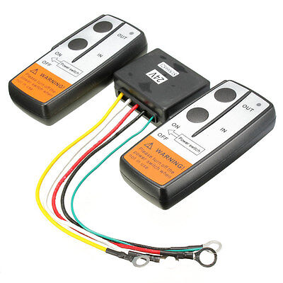 24V Winch Car Vehicle SUV Crane Remote Controller Twin Handset Switch Kit