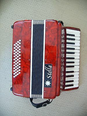 Stella 48 bass piano accordion / accordian 12x4