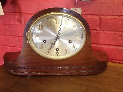 Beautiful Vintage Mahogany Mantle Clock With Westminster Chimes