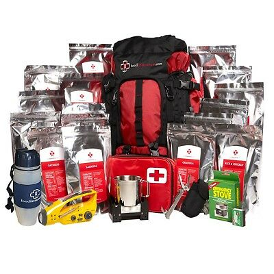 Food Insurance Premium Bug Out Bag/rucksack With Emergency 2 Week Food Supply.