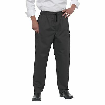 Le Chef Professional Pants Trousers Adjustable Drawstring Uniform Black