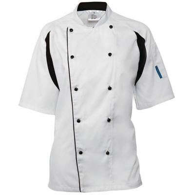 Le Chef Staycool Unisex Men Women White Jacket Top Short Sleeve Uniform Workwear