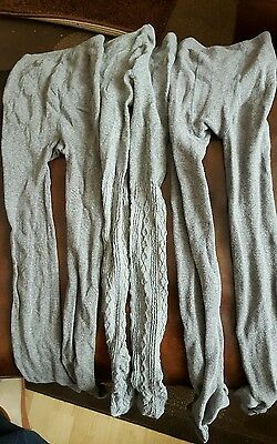 Girls Tights Bundle (X3) Pairs Grey Age 9-10 Years