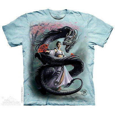 Dragon Dancer T-Shirt by The Mountain. Dark Fantasy Angel Dance Sizes S-5X NEW