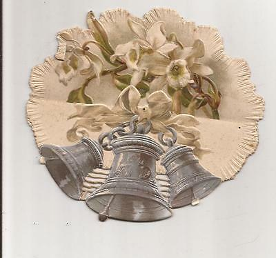 Antique 1900's folded Christmas Cards - Silver Bells
