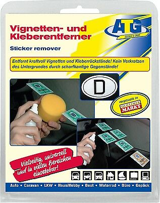 Vignettes Sticker Decal Remover Plaques Windscreen remover