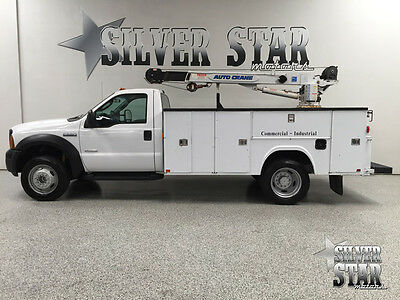 2007 Ford F-550  2007 F550 RWD Powerstroke 2DR Utility Service Bed AutoCrane Nice TX!