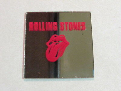 """ROLLING STONES VINTAGE CARNIVAL MIRROR 1970's CLASSIC LIPS TONGUE 3"""" INCH HTF"""