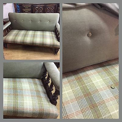 ***STOP PRESS*** Antique Victorian Sofa In Tweed Fabric Horse And Country Lovers