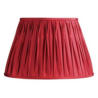 Laura Ashley SFP316 Classic 16-Inch Pinched Pleat Shade, Red