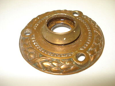 Antique Eastlake Bronze Doorknob Rosette Backplate
