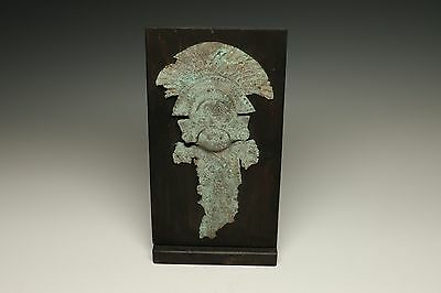Pre-Columbian Copper Crown Fragment - Chimu 500 - 1200 A.d.