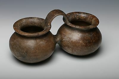 Pre-Columbian Tairona Chocolateware Vessel Double Bowl Colombia