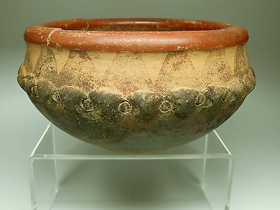 Pre-Columbian Bowl W/monkeys  - Costa Rica