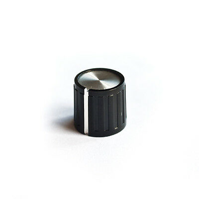 Vintage style mini knob, silver inlay for Boss Compact pedal middle knob