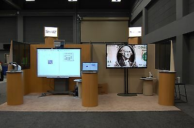 Large Trade Show Display Booth With 3 Rolling Cases