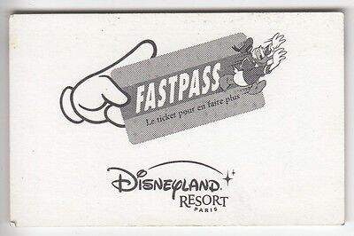 Disney Paris Pass Carte / Card .. Fastpass Donald Resort Carton+N° Magnetique