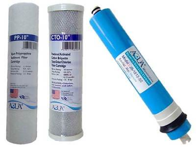 3 Filter Replacement Cartridge Set for RO Reverse Osmosis Water Filters Units