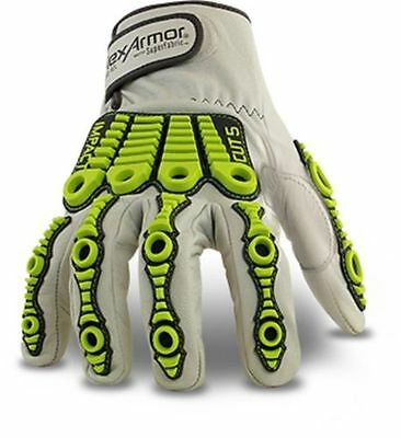HexArmor Leather Chrome Series 4080 Cut and Impact Resistant Gloves CR rating 5
