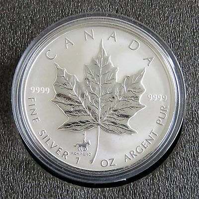 CANADA 1998 $5 1oz .9999 SILVER MAPLE WITH RCMP MINTMARK & STAMP SET - complete
