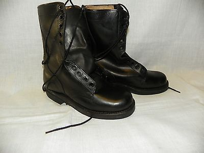 Mens /Women's Military Leather Duty Combat Boots men 3.5 Wide Good Year Sole New