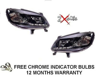 Vauxhall Zafira 1999-2005 Black Led Drl Daytime Running Devil Eye Headlights