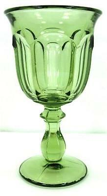 Imperial Old Williamsburg Verde Green Water Footed Glass Goblet Stemware