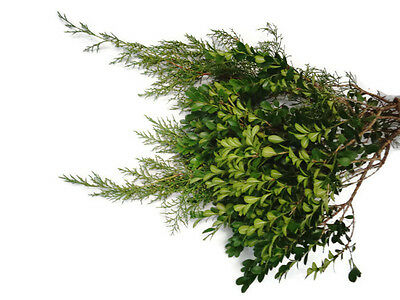 Country Christmas Bouquet, Fresh Pine bunches, cedar bunch, boxwood, greenery