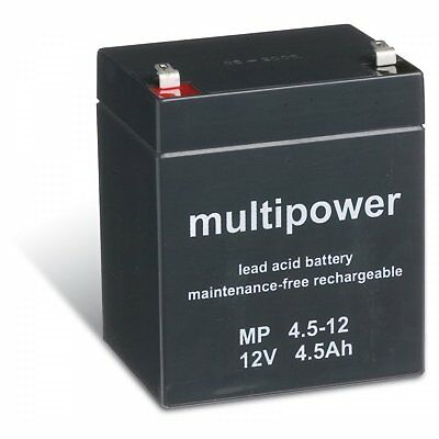 Powery batterie au plomb (multipower) MP4,5-12 12V 4,5Ah/54Wh Lead-Acid Noir