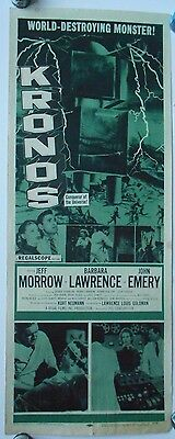 Kronos original sci-fi insert movie poster famous monsters horror