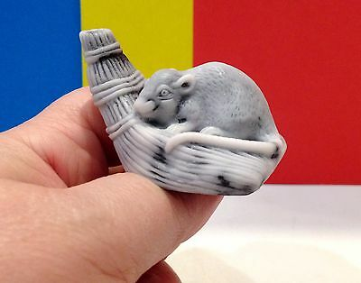 Rat figurine marble chips Souvenir miniature from Russia realistic