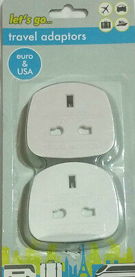 Travel Adaptors UK to Euro adaptor & UK to US