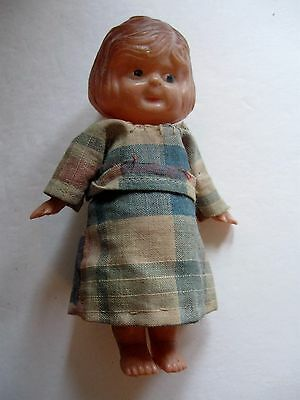 "Vintage Celluloid Made In Japan 5"" Girl Doll"