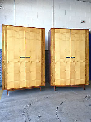A Stunning Pair Of His & Hers Mid Century Italian 1950'S Wardrobes Compactum