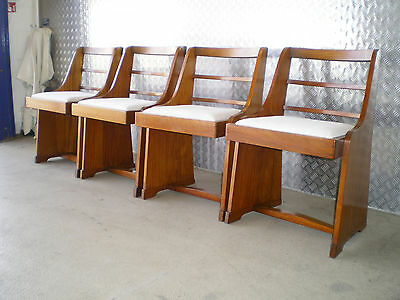 1940's Art Deco Solid Walnut Chapel Style Chairs