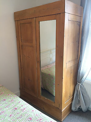 Victorian Pine Collapsible Wardrobe