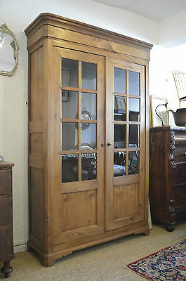 Collapsible Antique French Glazed Armoire Cupboard 19Th Century