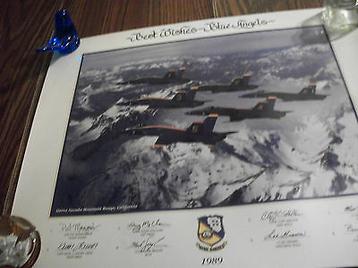 Beautiful Blue Angels 1989 Poster  Signed