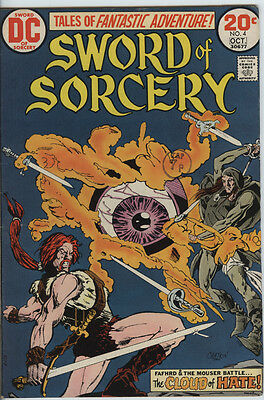 Sword of Sorcery Issue 4 from 1973 Scarce Fafhrd & Gray Mouser Nice Comic