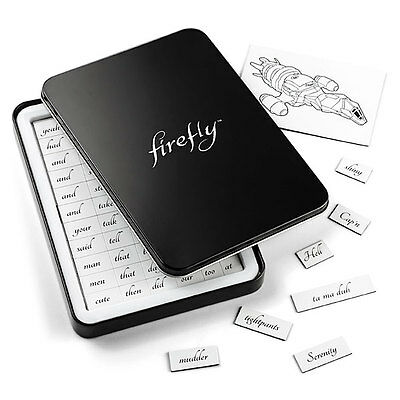 Serenity Firefly Magnetic Poetry Prose Set Holiday Christmas Gift Joss Whedon