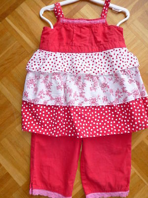 Red teired vest top and matching trousers 2-3yrs