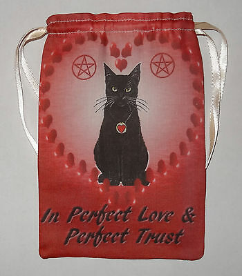 Valentines Black Cat Tarot Card Bag for most fairy angel & Wicca tarot cards
